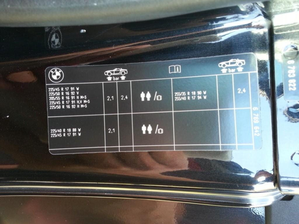 BMW Luftdruck