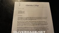 Berkeley College angenommen